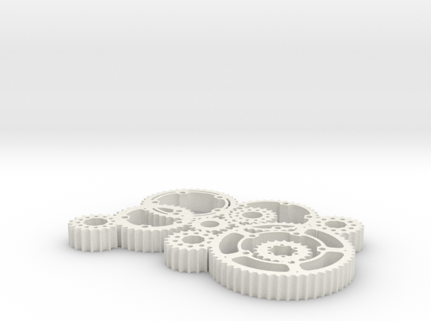 gears in White Natural Versatile Plastic