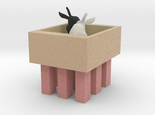 Bunnies In Shop (2) in Full Color Sandstone