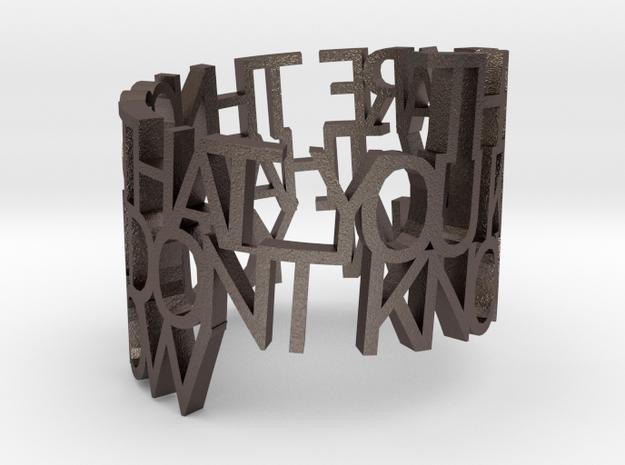 Metal Things Ringpoem 3d printed