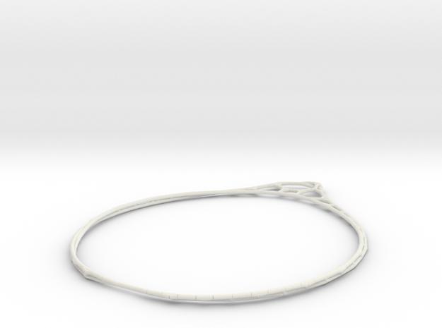 Minimalist Bracelet 3 in White Natural Versatile Plastic