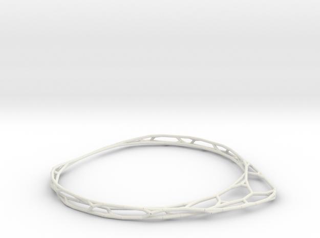 Thin Bracelet in White Natural Versatile Plastic