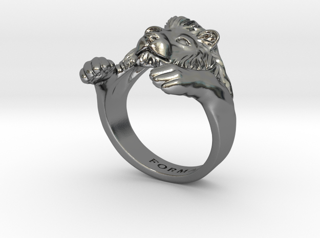 Lion Hug Ring 3d printed