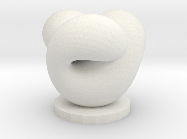 Boy's Surface On Base in White Natural Versatile Plastic