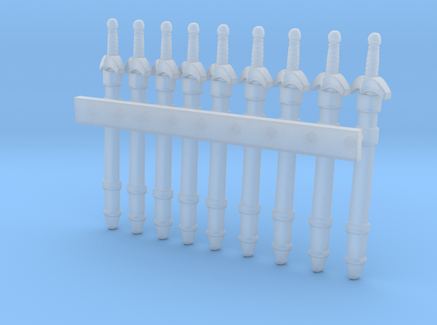 swords in scabbard for 25mm miniatures (16mm long) 3d printed