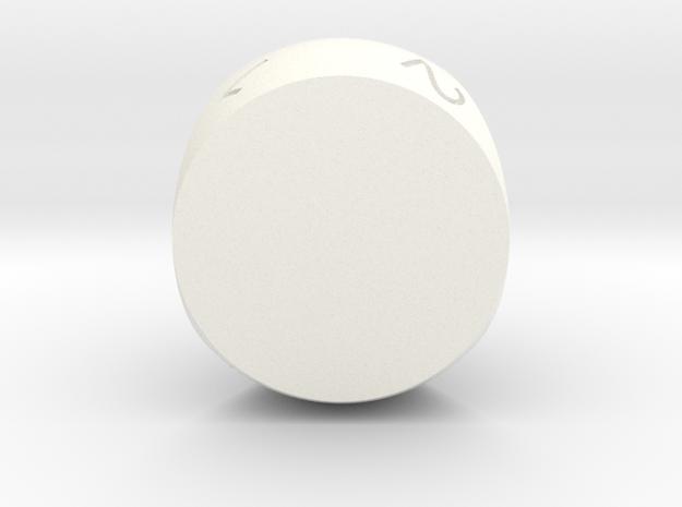 D3 Sphere Dice in White Processed Versatile Plastic