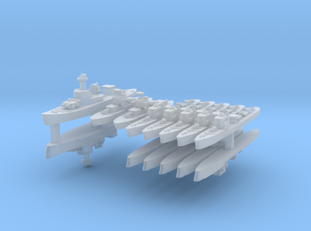 Thai Fleet 1:2400 (14 Ships) 3d printed