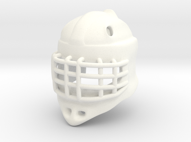 Ice Hockey Golie Helmet (prototype) in White Processed Versatile Plastic