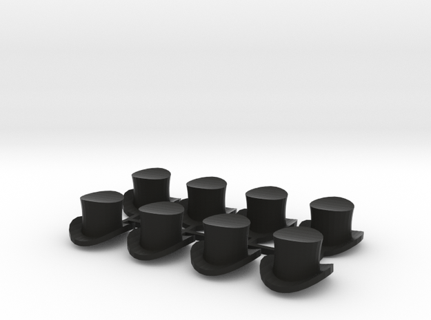28mm Top hats (x8) 3d printed