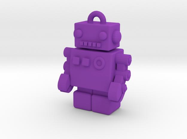 """Gold USB Robot Drive, """"Bling Bob"""" 3d printed"""