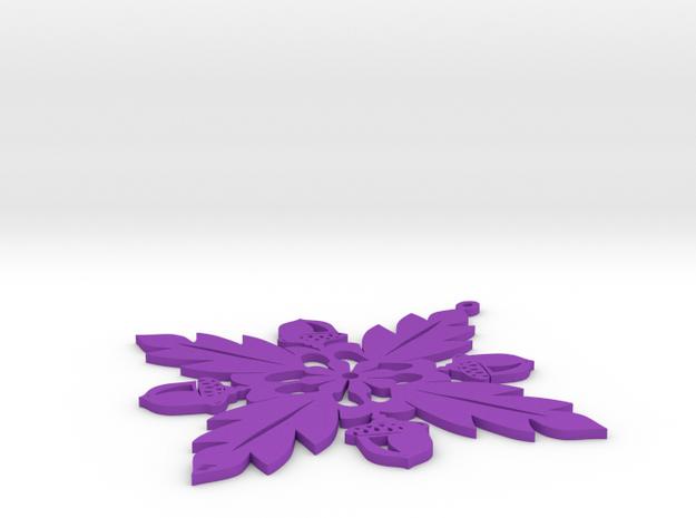 Grand Central Snowflake - Flat 3d printed