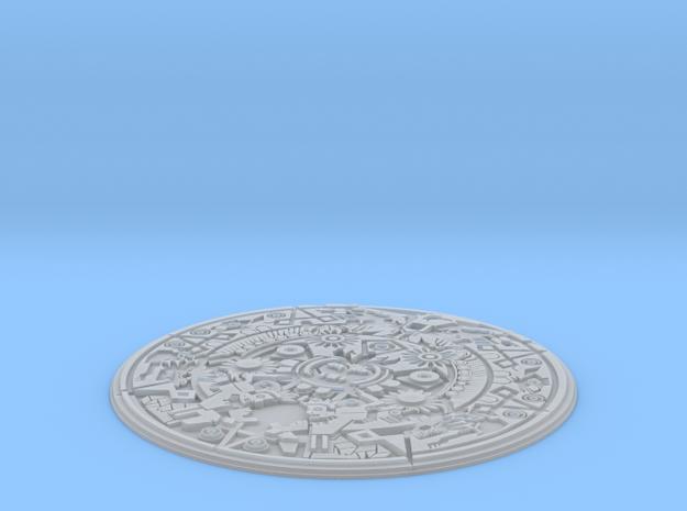Smaller Aztec Medallion in Smooth Fine Detail Plastic