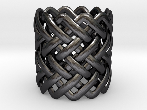 Full knuckle woven ring - Size 9 1/2 3d printed