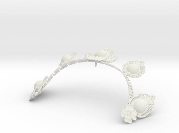AV tiara in White Natural Versatile Plastic