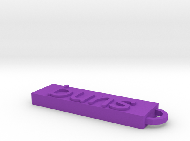 Keychain in Purple Processed Versatile Plastic