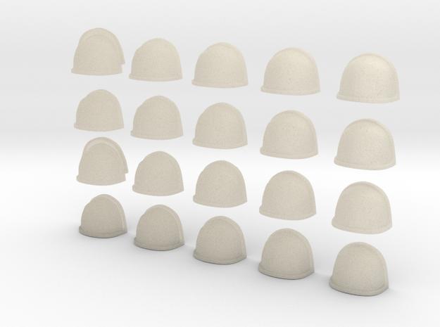20 Heroic/TrueScale Custom Shoulder Pad Plain 3d printed
