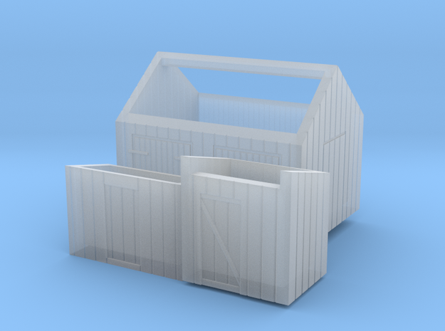 Z logging - Small Sheds (3pcs) in Frosted Ultra Detail