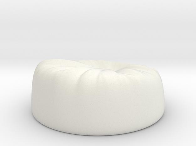 Beanbag in White Natural Versatile Plastic