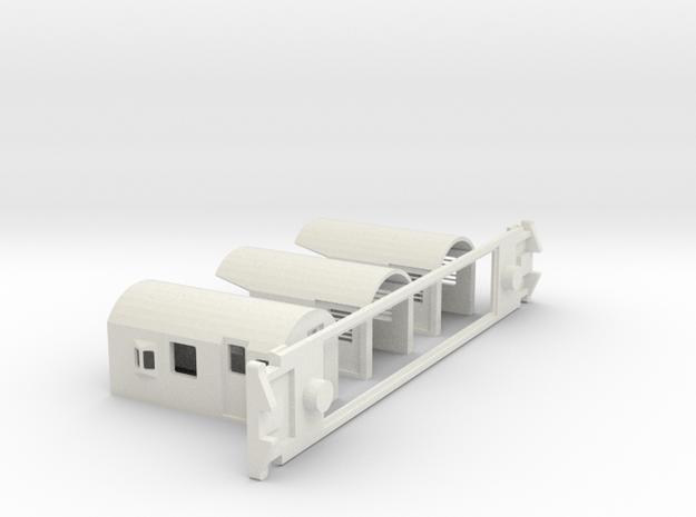 FM Guards Van, New Zealand, (S Scale, 1:64) in White Natural Versatile Plastic