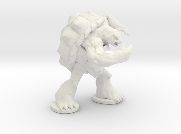Angry Snapper in White Natural Versatile Plastic