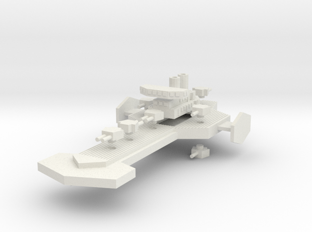 Rottis Class Heavy Cruiser in White Natural Versatile Plastic