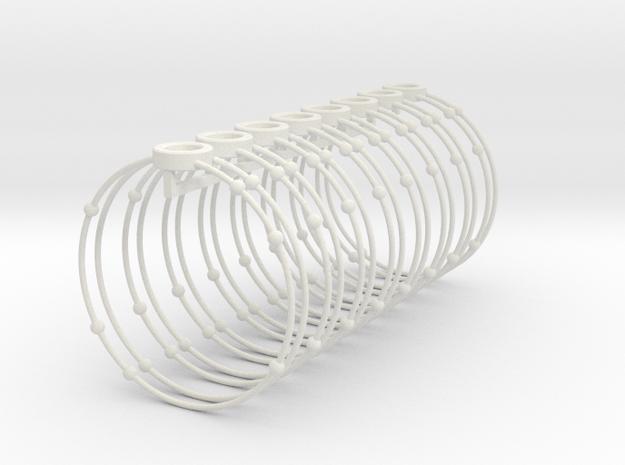 Oxygen Napkin Ring in White Natural Versatile Plastic