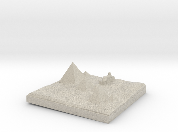 Traditional View Of The Pyramids more printable in Natural Sandstone