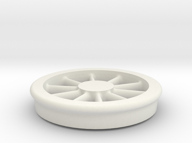 Lobehjul Tenderhjul H2 spor0 STL in White Natural Versatile Plastic