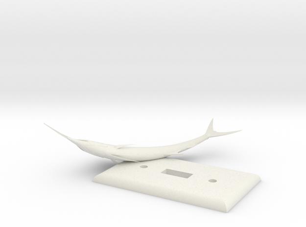 Fishplate in White Natural Versatile Plastic