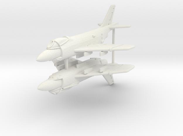 1/300 F3H Demon (x2) in White Natural Versatile Plastic