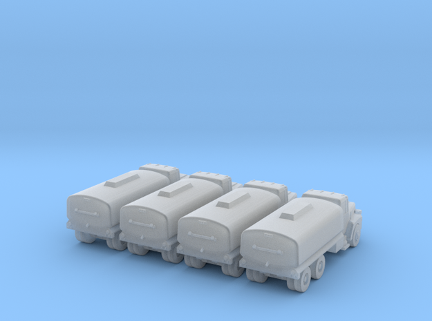 Mack Water Tanker - Set of 4 - Zscale 3d printed