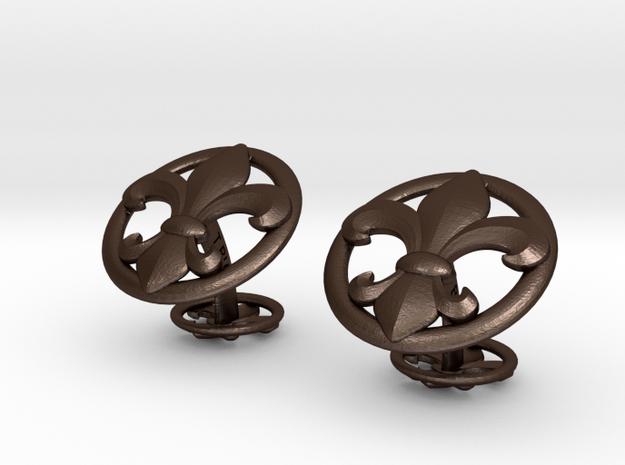 Fleur de LysCufflinks 3d printed
