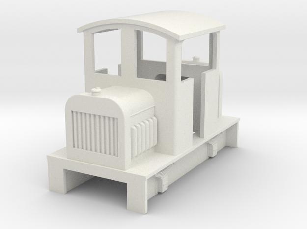 Sn2 Centercab diesel loco body in White Natural Versatile Plastic