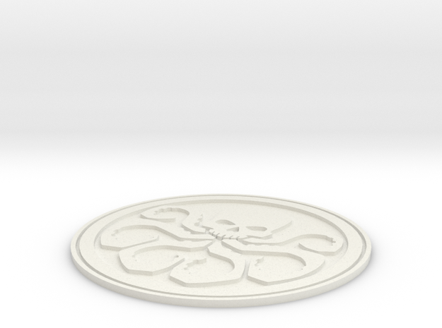 Hydra Badge in White Natural Versatile Plastic
