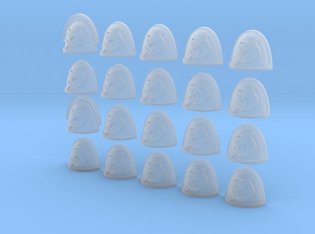 20 28mm Custom Shoulder Pad Shark 3d printed