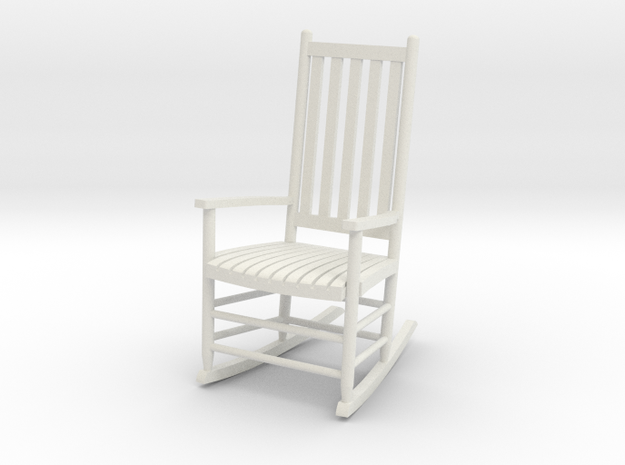 1:24 Rocking Chair (Not Full Size) in White Natural Versatile Plastic