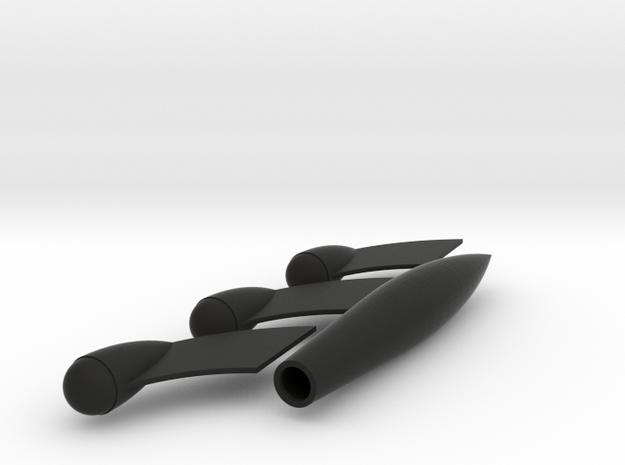 TinTin Rocket 20cm in parts 3d printed