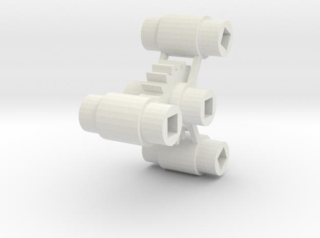 Bachmann HO 4-8-4 Axle Centers in White Natural Versatile Plastic