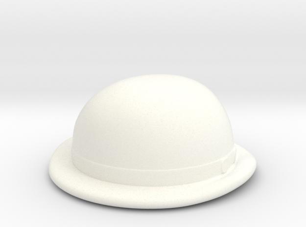 Bowler in White Processed Versatile Plastic