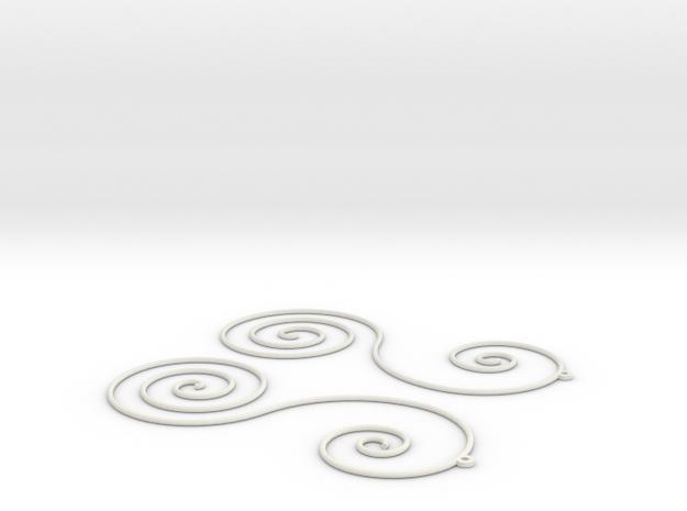 Sun Farm Spirals | earrings 3d printed
