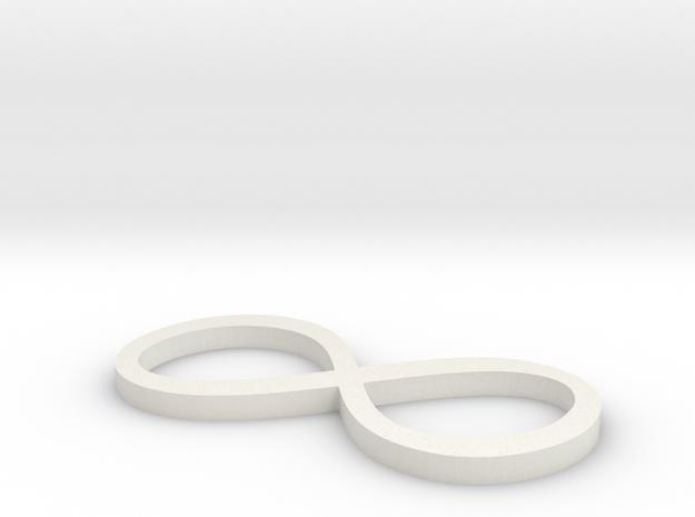 Infinity Loop in White Natural Versatile Plastic