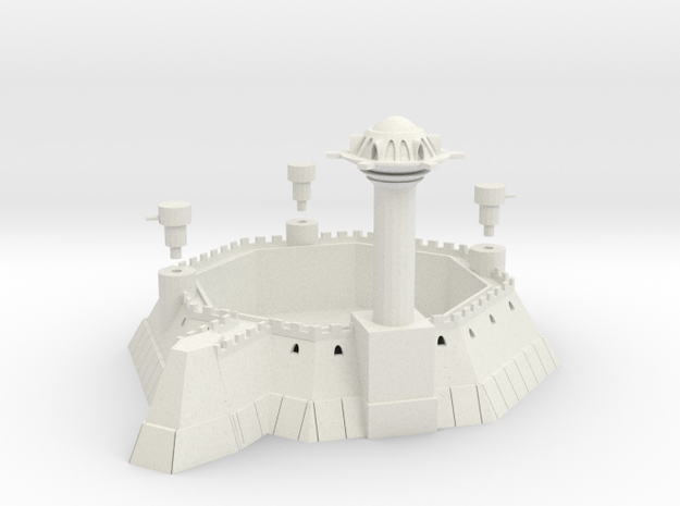 Martian 8 Sided Villa Fortress With Towers 3d printed