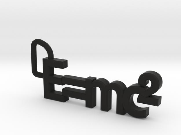 E = mc2 keyring 3d printed
