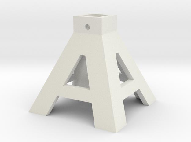 axlestand base in White Natural Versatile Plastic