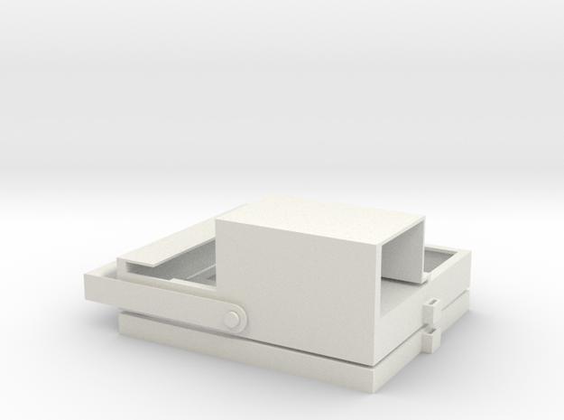 Battery tray for eBike in White Natural Versatile Plastic