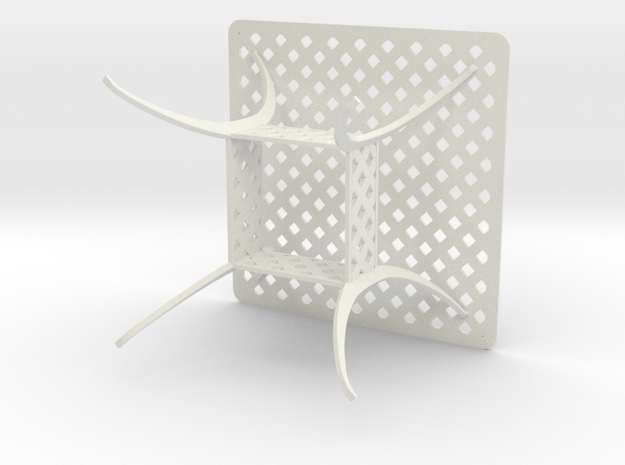 36x36 Beasketweave Table - Scale 1 To 12 in White Strong & Flexible