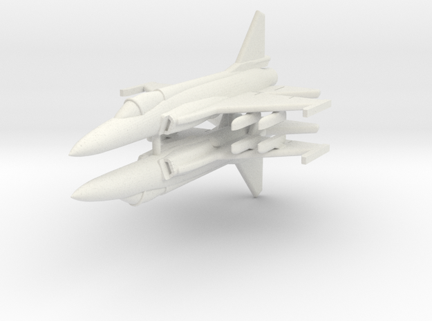 1/300 JF-17 Thunder (x2) in White Natural Versatile Plastic
