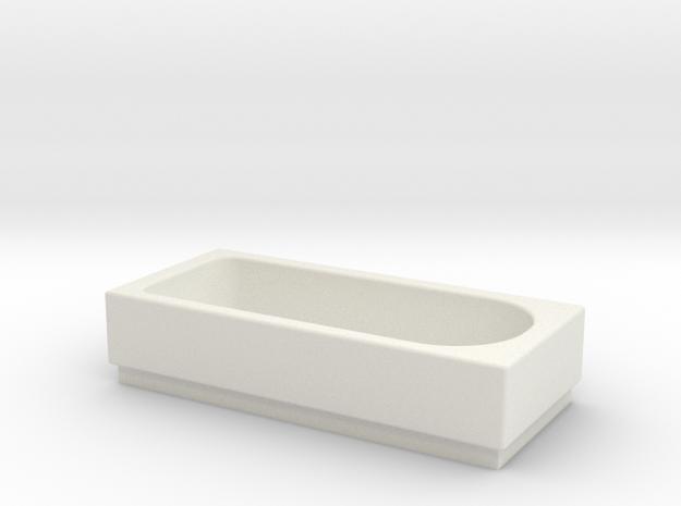 Bath OO Scale in White Natural Versatile Plastic