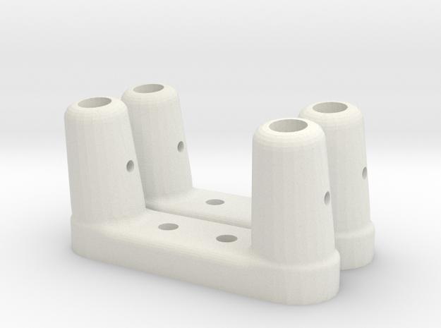 BP-8 Scratch bar brackets in White Natural Versatile Plastic