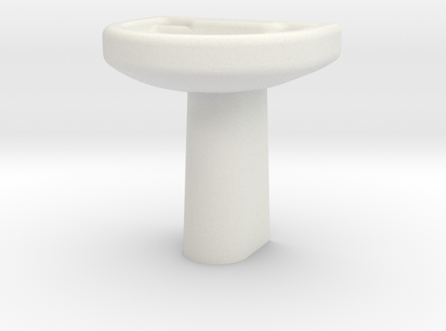 Wash Basin  in White Natural Versatile Plastic