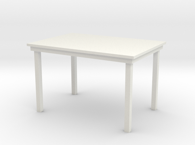 1:24 Dining Table in White Natural Versatile Plastic